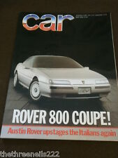 CAR MAGAZINE - ROVER 800 COUPE - MAY 1986
