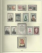 FEUILLES  PRE-IMPRIMES POUR TIMBRES DE FRANCE EMIS DE 1940 à 1944