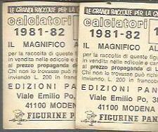 FIGURINA CALCIATORI PANINI 1981 82- NUOVA - scudetto  COSENZA ERCOLANESE - 560