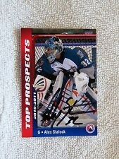 San Jose Sharks Alex Stalock Signed 10/11 AHL Top Prospects Card Auto