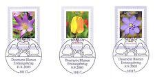 BRD 2005: Blumen Nr 2480 + 2484 + 2485 mit Berliner Ersttags-Sonderstempeln! 1A!
