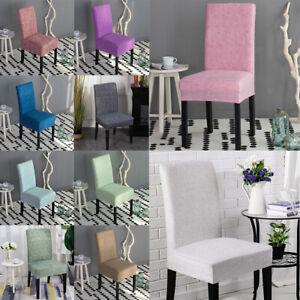 Elastic Chair Seat Cover Dinner Stool Slipcover for Kitchen Hotel Salon