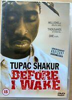 Before I Wake DVD ~ 2001 2pac Tupac Shakur Rap Hip Hop Documentary