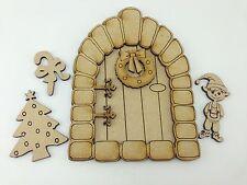 MDF Fairy DOOR Kit-Natale Elf PORTA LASER CUT MDF - 15 cm alto 3mm confezione da 5