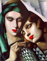 Quadro su pannello in legno MDF Tamara De Lempika The green turban