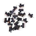 Black 20pcs 5V 0.3A SS12F32 Mini SPDT Slide Switch for Small DIY Power.ca