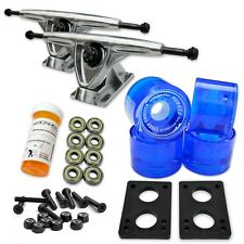 HD7 Longboard Combo set - Polished trucks (Gel Blue)