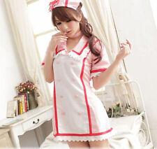 Vocaloid Hatsune Miku Nurse Uniform Cosplay Costume Purple Orange Pink Red New