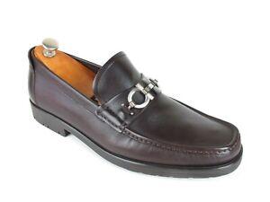 Mint Salvatore Ferragamo Master Brown Calf Gancini Bit Loafers 11 2E  EE