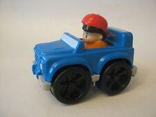 Fisher Price Blue Little People Wheelies Jeep (012-4)