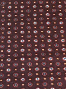 """Fabric 3 yards x 45"""" rich brown w/ circle motifs flowers Sewing Quilting"""