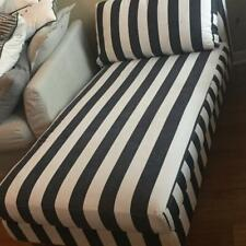 Genuine Ikea Karlstad Cover, Add-on Chaise Longue, Rannebo BlackWhite 301.187.67