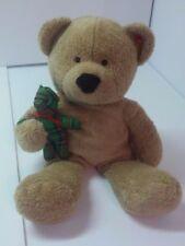 "Ty Pluffies 2005 Teddy Bear & Bear toy stitched eyes 11"" stuffed animal toy"