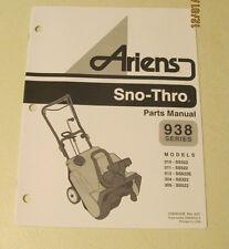 Ariens Sno-Thro Parts Manual 938 Series