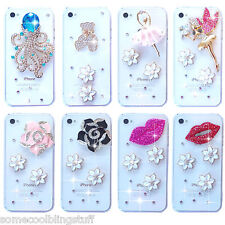 NEW CLEAR BLING DELUX DIAMANTE SPARKLE CASE COVER 4 SAMSUNG iPHONE SONY HTC UK