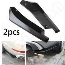 2PCS Gloss Black Car Rear Bumper Fin Canard Splitter Diffuser Valence Spoiler