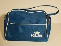 KLM Royal Dutch Airlines Souvenir Airplane Travel Shoulder Pack Vintage
