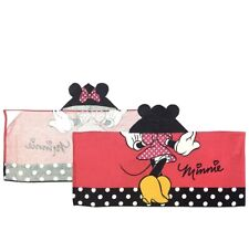 "Disney Minnie Mouse Hooded Poncho Bath/Beach Towel 22"" x 51""  Kids Clothing Pink"