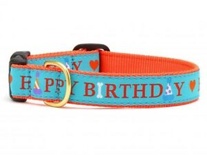 Up Country NWT Large Happy Birthday Dog Collar PREPPY