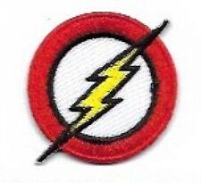 Mini Flash Embroidered Patch / Iron On Applique, Superhero, DC Comics, Licensed