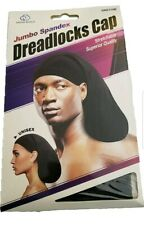 Quality Jumbo Spandex Dread Rasta Locks Cover Dreadlock Cap 115B Black Long Hair