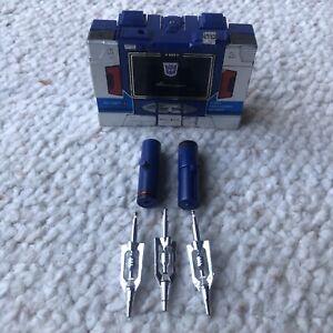 Vintage Takara Transformer G1 Blue Soundwave Decepticon 1983 Pre Rub Complete