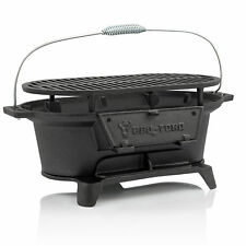 BBQ-Toro Gusseisen Grilltopf mit Grillrost Hibachi Style Holzkohle Campinggrill