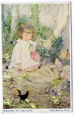 1939 MURIEL DAWSON Welcome to Fairyland  Happy Hours Series Children  Postcard