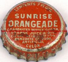 1940s Minnesota MARSHALL Coca Cola Bottling SUNRISE ORANGEADE Cork Crown
