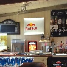 Red Bull Large LED Metal Wall Sign New And Unused With Reversible Logo