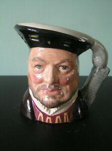 "A ROYAL DOULTON ""KING HENRY VIII"" CHARACTER MUG: D6647: 4"" TALL: VG CONDITION"
