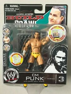 "WWE WWF Deluxe Build & Brawl CM PUNK 3"" Wrestling Action Figure"