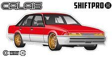 VL Calais Holden Commodore Sticker - Red with Gold Enkei Rims - ShiftPro Brand