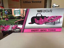Pink Bean Bag Toss Game Set Backyard, BBQ, Parties 3 Hole Size - Foldable New