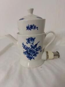Neuerer Aromator Kaffeemaschine Blaue Blume - Porzellan-Filterkaffeemaschine