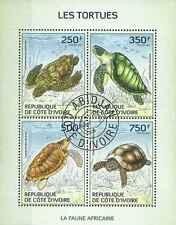 Timbres Reptiles Tortues Cote d'Ivoire 1346/9 o année 2014 lot 14175