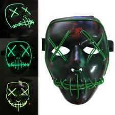 The Purge Movie EL Wire LED Mask Party Festival Halloween Costume Cosplay Prop