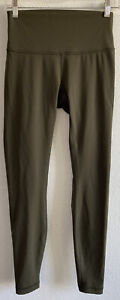 Lululemon Wunder Under Size 6 Army Green Leggings Pants
