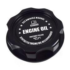 New Black Billet Engine Oil Filler Cap JDM Emblem For Honda & Acura