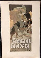 POSTER ORIGINALE litografia, HOHENSTEIN, CORDIAL CAMPARI-PLUMA Y Lapiz