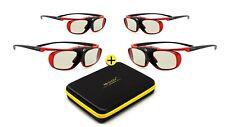 4x 3D Brille Hi-SHOCK Scarlet Heaven für Epson EH-TW9200W, 7300, 6700, 6800, 570