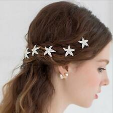 Bridal Wedding Crystal Starfish Hair Clip Hair Pin