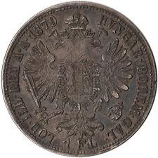 1879 Austria 1 Florin Silver Coin KM#2222