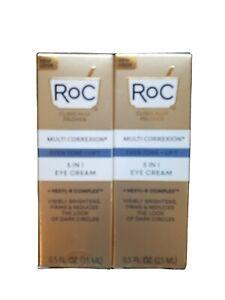 X 2 RoC Multi Correxion 5 in 1 Eye Cream 0.5oz./15ml New