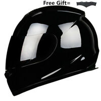 Full Face Motorcycle Helmet w/Smoke Sun Visor Motocross Racing S/M/L/XL/XXL