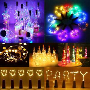 10PCS Bottle Fairy String Lights Cork Shaped Christmas Wedding Party LED lights