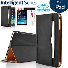 "Apple iPad Pro 12.9""/9.7"" 10.5"" Leather Case Card Wallet Folio Smart Cover+Film"