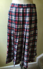 Vtg Pendleton Authentic Dress MacDuff Tartan Wool Plaid Pleated Skirt Womens 14