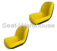(2) Yellow XB180 HIGH BACK SEATS for John Deere GATORS Made in USA by MILSCO #JR