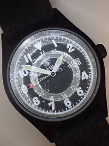 Vintage Smith And Wesson Military Style Watch#65n